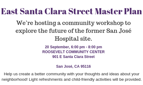 Explore the future of the former San Jose Hospital site in our first workshop on September 20!